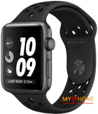 Смарт-часы Apple Watch Nike+ Series 4 GPS + LTE 40mm Gray Alum. w. Anthracite/Black Nike Sport b. Gray Alum. (MTX92)