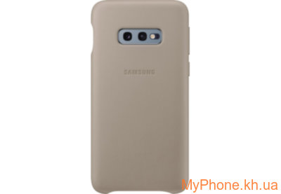 Чехол для телефона Samsung S10e Leather Cover Gray EF-VG970LJEGRU