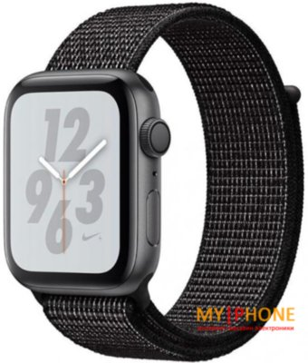 Смарт-часы Apple Watch Nike+ Series 4 GPS 40mm Gray Alum. w. Black Nike Sport l. Gray Alum. (MU7G2)