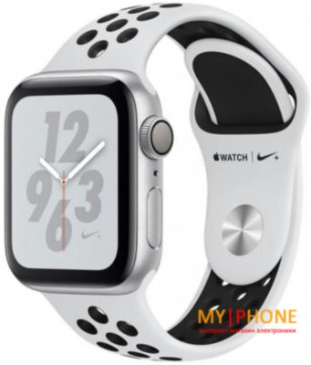 Смарт-часы Apple Watch Nike+ Series 4 GPS 40mm Silver Alum. w. Platinum/Black Nike Sport b. Silver Alum. (MU6H2)