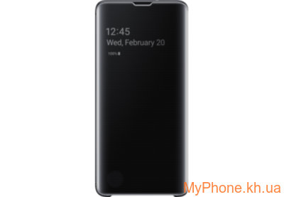 Чехол для телефона Samsung S10 Clear View Cover Black EF-ZG973CBEGRU