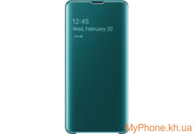 Чехол для телефона Samsung S10 Clear View Cover Green EF-ZG973CGEGRU