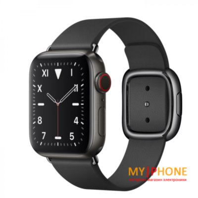 Смарт-часы Apple Watch Series 5 GPS 44mm Space Black Titanium,Space Black Sport Band (MWR52)