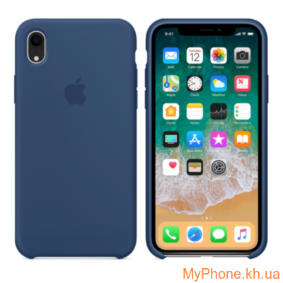 Силиконовый чехол Apple Silicone Case Blue Horizon для iPhone Xr