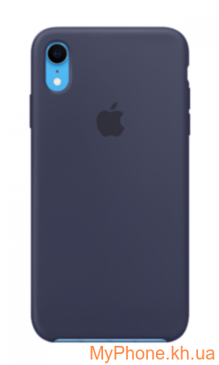 Силиконовый чехол Apple Silicone Case Midnight Blue для iPhone Xr