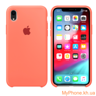 Силиконовый чехол Apple Silicone Case Ultra Peach для iPhone Xr