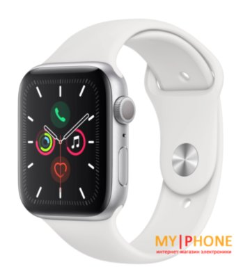 Смарт-часы Apple Watch Series 5 40mm Silver Aluminum Case with White Sport Band (MWV62)