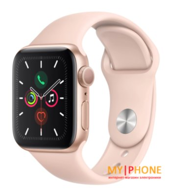 Смарт-часы Apple Watch Series 5 40mm Gold Aluminum Case with Pink Sand Sport Band (MWV72)