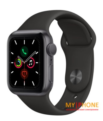Смарт-часы Apple Watch Series 5 40mm Space Gray Aluminum Case with Black Sport Band (MWV82)