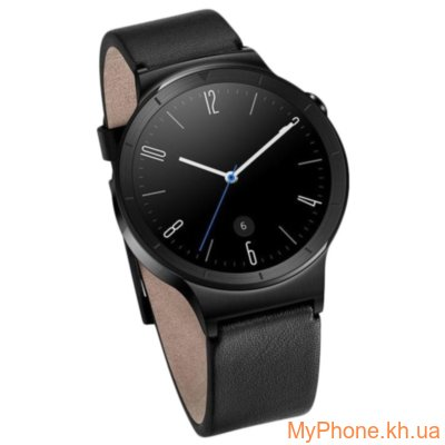 Смарт-часы HUAWEI Watch (Black Stainless Steel with Black Leather Strap)
