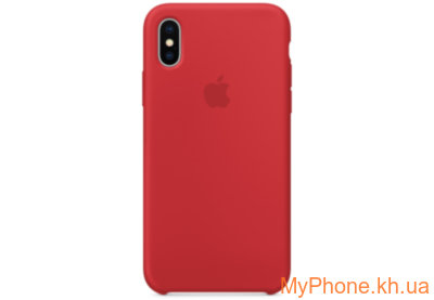 Чехол Apple Silicone (PRODUCT) RED для iPhone X