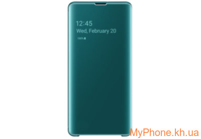 Чехол для телефона Samsung S10 Plus Clear View Green EF-ZG975CGEGRU