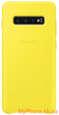 Чехол для  телефона Samsung Leather Cover  S10 Plus (EF-VG975LYEGRU) Yellow
