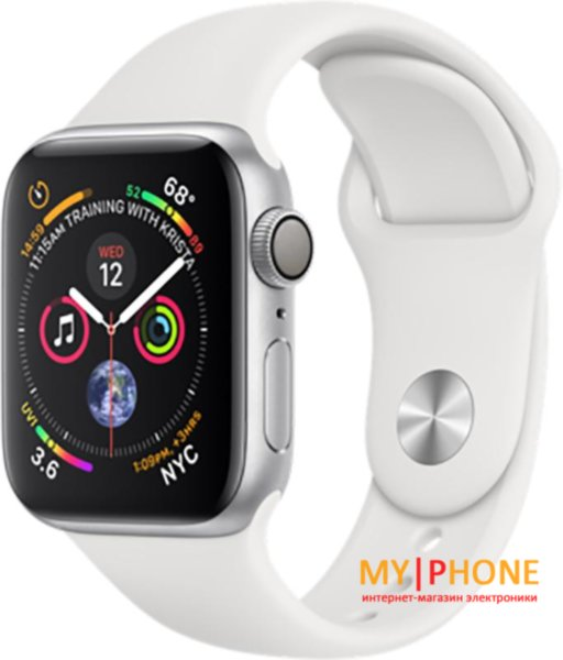 Смарт-часы Apple Watch Series 4 GPS 40mm Silver Alum. w. White Sport b. Silver Alum. (MU642)