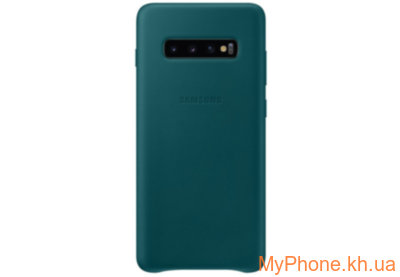 Чехол для телефона Samsung S10 Plus Leather Green EF-VG975LGEGRU