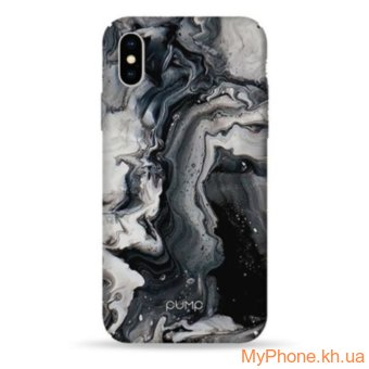 Чехол Pump Plastic Fantastic Case Black Marble  for iPhone X