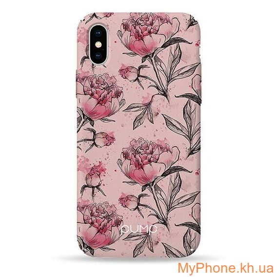 Чехол Pump Plastic Fantastic Case Pink Pionies  for iPhone X